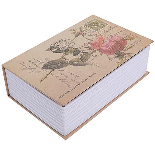 Angoily Caja de Seguridad para Libros con Caja de Almacenamiento Segura para Libros Caja de Seguridad de Metal Oculta