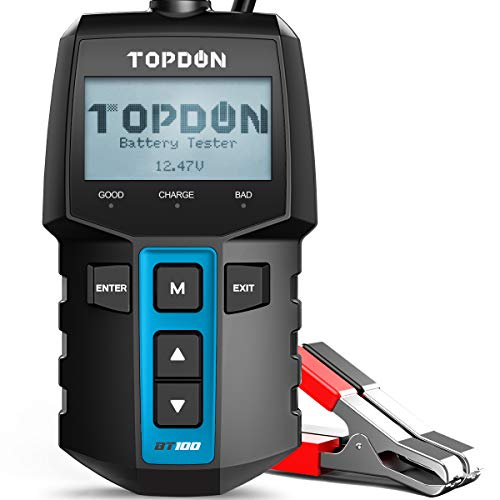 Car Battery Tester TOPDON BT100 12 Volt 100-2000CCA Battery Load Tester, Cranking and Charging...