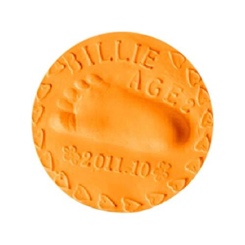 DDyna Huella de Manos de bebé Huellas de Manos y pies Barro de Manos y pies Huella de Manos de bebé Huella de Manos de Negocios Arcilla Ultraligera-Naranja