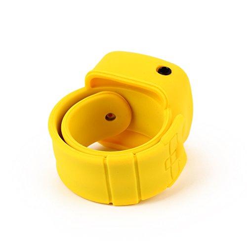 Haihui Reproductor de música MP3 de muñeca, teléfono móvil, reproductor multimedia deportivo, portátil, sin pantalla, soporte USB, tarjeta TF