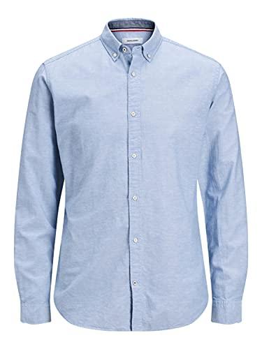 JACK & JONES JJESUMMER Shirt L/S S20 STS Camicia Button-Down, Infinity, M Uomo