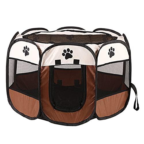 Duodo Tienda de entrenamiento portátil para mascotas, parque octogonal para mascotas, resistente a los arañazos, para mujeres embarazadas o gatos lesionados, plegable, portátil