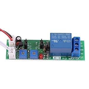 1pc DC 12V/24V Adjustable Cycle Times Switch Module Delay On/Off Timer Delay Switch Module 6 Types Optional (DC12V 0-120mins)