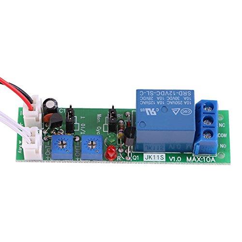 1pc DC 12V / 24V einstellbare Zykluszeiten Switch Module Delay On/Off Timer Verzögerung Switch-Modul 6 Typen Optional(DC 12V 0-120 Minuten einstellbar)