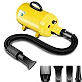 Amzdeal Dog Dryer Pet Hair Dryer 3.8HP 2800W Stepless Speed Dog Blaster Blower