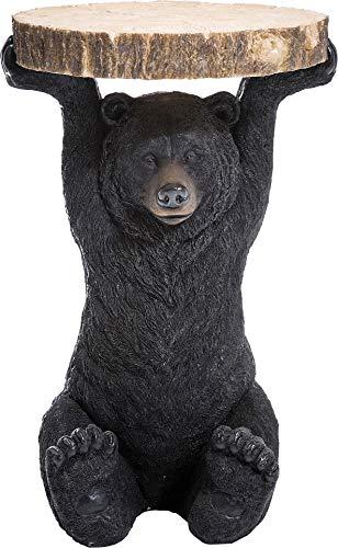 Kare Design Table d'appoint Animal, Petite Table Basse Ronde, Aspect Bois, Figurine Animale comme Fantaisie, Ø40cm, 54x40x40cm