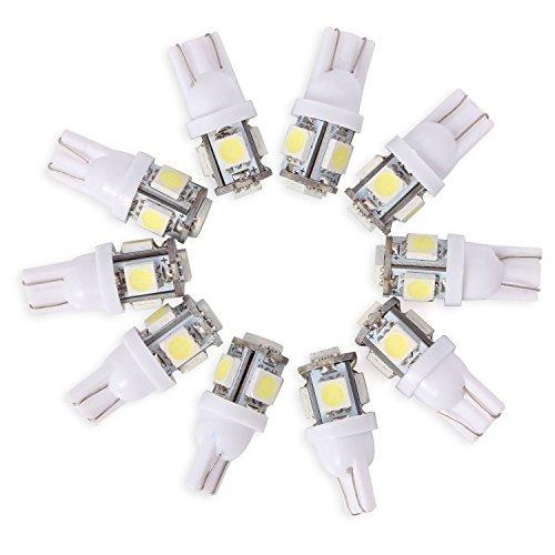 Neuftech® 10 X Bombilla T10 5 LED 5050 SMD 12V Luz Coche Trasera Lám