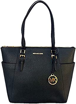 Michael Kors Charlotte Large Saffiano Leather Top-Zip Tote Bag