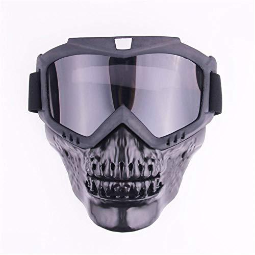 Outdoor paardrijden masker motorcross skiën snowboard snowmobile retro masker beschermende bril bril Gray sheet