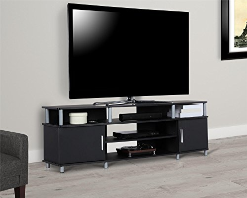 Ameriwood Home Carson TV Stand for TVs up to 70', Black
