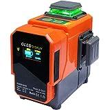 Danpon レーザー墨出し器 グリーン12ライン 3×360° クロスライン フルライン照射モデル 大矩 自動調整 OLEDパワーバンク、ウォールブラケット付き 高輝度 屋内外対応 非球面ガラスレンズ採用 新型VH-3D