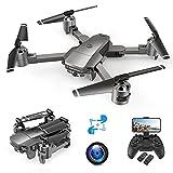 A15F Drone avec Caméra 1080P, Positionnement de Flux Optique, FHD 120° Grand Angle, Suivez-moi, Vole par Trajectoire, Contrôle par Voix et Gestes, Facile à Piloter, Autonomie 24 mn