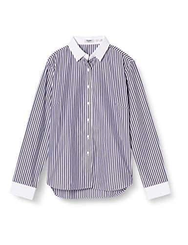 [アトリエサンロクゴ] レディースシャツ クレリック ワイシャツブラウス lc-27 ロンドンストライプ 3L (日本サイズ3L相当)
