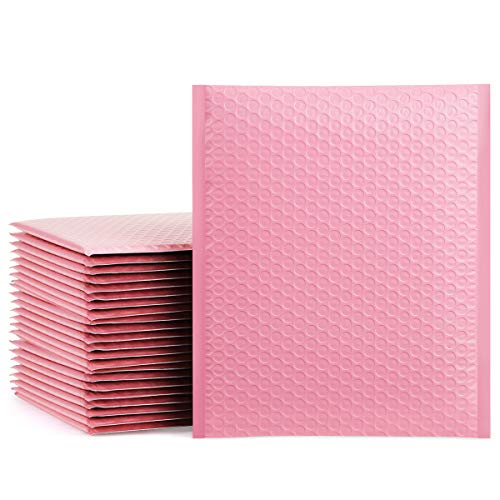 """UCGOU 10.5x16"""" Light Pink Bubble Mailers Padded Envelopes Shipping Bags 25pcs"""