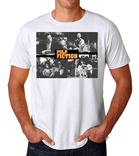 Pulp Fiction Ouentin Tarantino Movie Poster Men's T-Shirt Hombre Camiseta Large