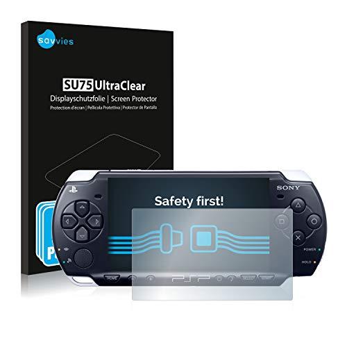 Savvies 6X Schutzfolie kompatibel mit Sony PSP 3004 Displayschutz-Folie Ultra-transparent