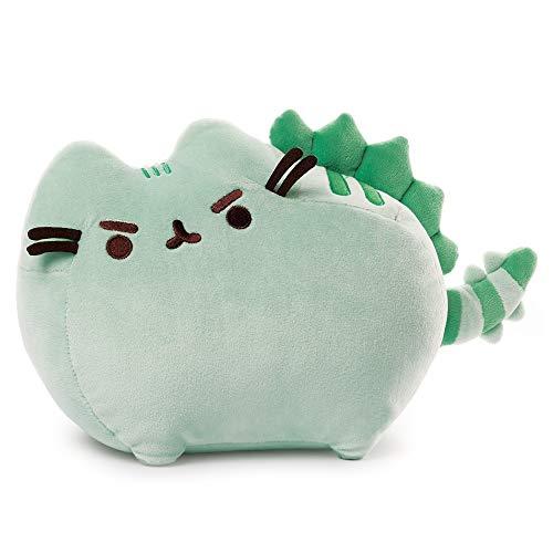 "GUND Pusheen Pusheenosaurus Plush Stuffed Animal Dinosaur Cat, Green, 13"""