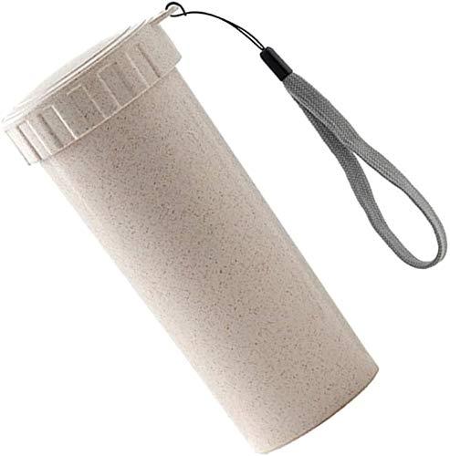 Plztou Weizen Stroh Hand Tasse Massivfarbig Kunststoff Tragbare Männer Frauen Wasserflasche Nette Mini Paar Tasse