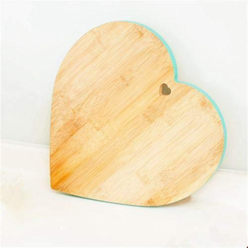 Qxinjinxab Hjärta bambu skärbräda är lämplig för kök hållbar och promiskuös att unclouded