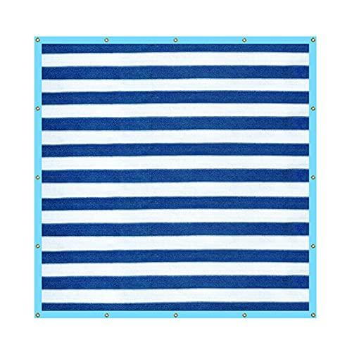 K-Park Red de protección de privacidad de balcón rayado, red de sombreado de piscina de coche de camping al aire libre, toldo al aire libre diplomático