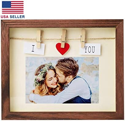 Handmade Picture Frames Real Solid Wood Shadow Box Boyfriend Girlfriend Couples I Love You Picture product image