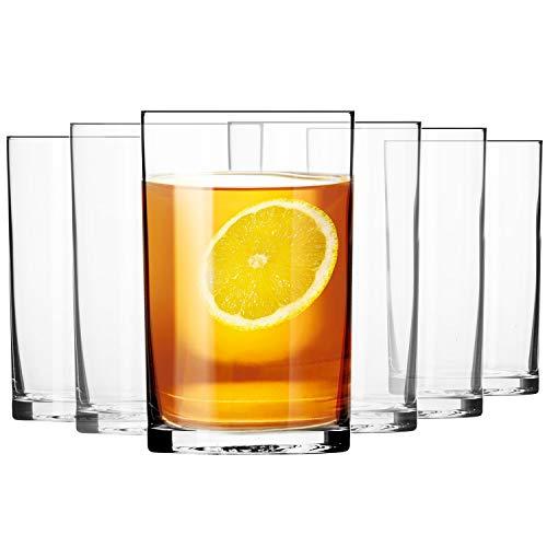 Krosno Wasser-Gläser Trinkgläser Tee-Gläser | Set von 6 | 250 ML | Basic Kollektion | Perfekt für Zuhause, Restaurants und Partys | Spülmaschinenfest und Mikrowellengeeihnet