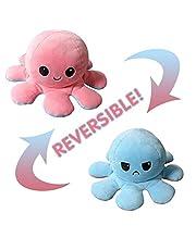 Polpo reversibile, giocattoli morbidi a doppia faccia, polpo farcito, mini polpo carino, bambola di peluche, regali creativi per bambini / ragazze e ragazzi / amici