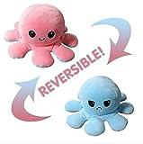 LENDOO Pulpo Reversible, Juguetes Blandos de Doble Cara, Pulpo de Peluche, Lindo Mini Pulpo, Muñeco de Peluche, Regalos Creativos para Niños / niñas y niños / Amigos (Rosa + Azul)