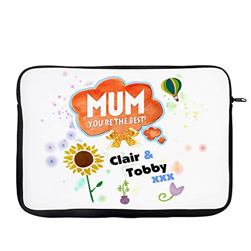 Personalised Mum You're the Best ANY NAME Secret Santa Christmas Birthday Present Travel Bag Laptop Sleeve Unique Laptop Accessories. (9'-10')