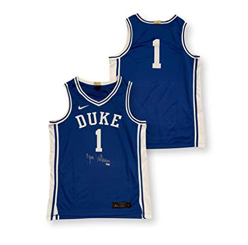 Zion Williamson Autographed Duke Blue Devils Signed Nike Elite Basketball Jersey Fanatics Authentic COA