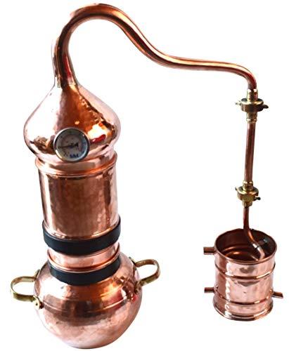 Dr. Richter Kolonnenbrennerei aus Kupfer 2 L Thermometer - Destille ätherische Öle - mit Kippgestell
