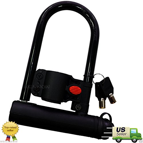 wennow bike cables Wennow New Universal Bike Bicycle Cycling Steel U Lock Anti-theft-Ship by US Priority