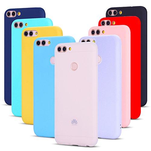 9 Pack Cover Huawei P Smart Custodia, SpiritSun Ultraslim Silicone Soft TPU Case Antiurto Custodia per Huawei P Smart Anti-Caduta e graffio Protezione Shell Copertura