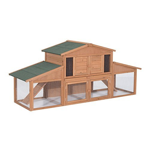 "Pawhut 91"" Deluxe Rabbit Hutch"