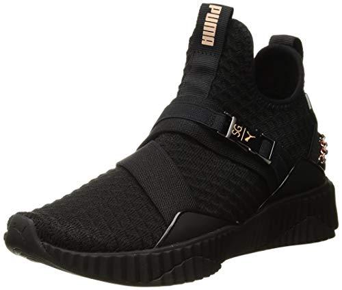 PUMA Women's DEFY MID WN'S X SG Shoe, Puma Black-Rose Gold, 8 M US