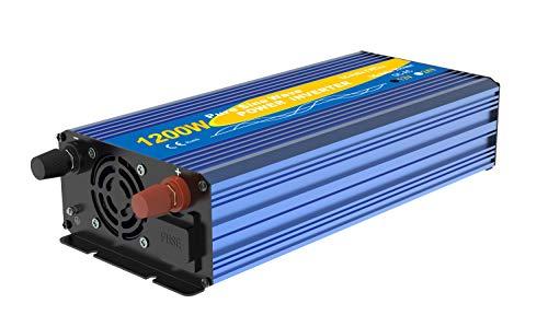 Solinba Power Inverter 1500 W Onde sinuso/ïdale Pure DC12v vers AC230v 50Hz Off Grille Peak 3000 W convertisseur