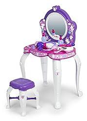 Ofertas Tienda de maquillaje: Bonito tocador para niñas con divertiso diseño de unicornios con espejo y taburete Incluye 12 accesorios: un secador, un espejo de mano, una diadema, horquillas y muchas más cosas Indicado para niñas y niños a partir de 3 años Los juegos de rol fomen...