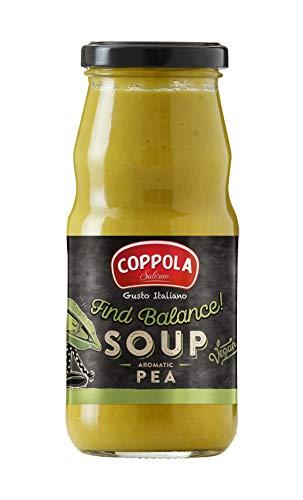 Coppola ¡Find Balance! Sopa con Guisantes, Puerro y Jengibre - sin azúcar añadida 350 g (Caja de 6)