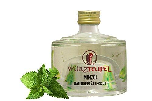 Minzöl, naturreines, ätherisches Öl der Minze, Heilpflanzenöl, Flasche 40 ml.