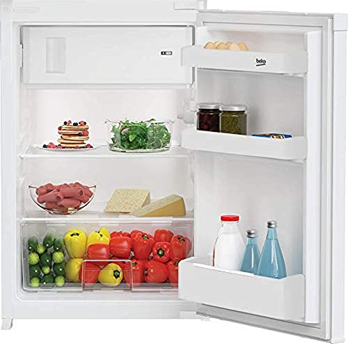 Beko B1754FN Integrierbarer Kühlschrank mit 4-Sterne-Gefrierfach/Festtürtechnik/Nische: 88 cm