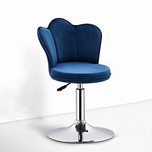 LICEA Adjustable Barstool,Fashion Counter Stool Metal Bar Stool Lifting Lheight Stool Anti-Slip Armchair Stool Commercial Counter Bar Blue 40-55cm(16-22inch)