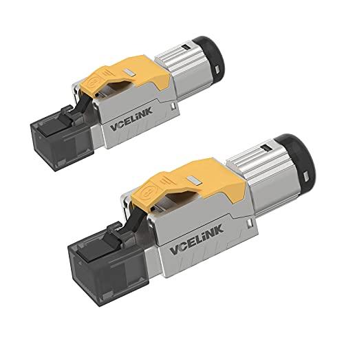 VCELINK Conector RJ45 sin Herramienta Conector RJ45 Cat 8 Blindado para Cable...