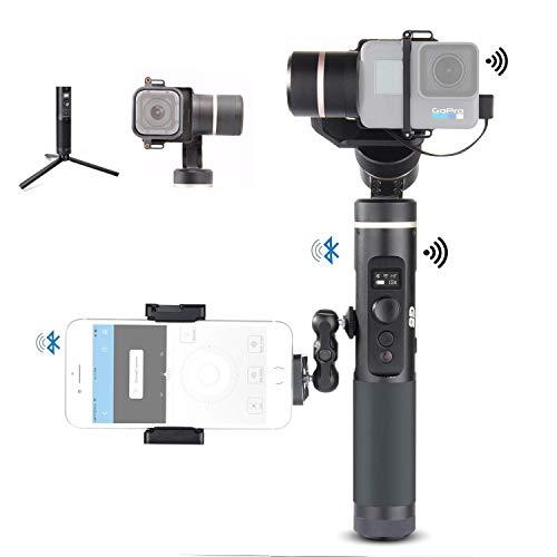 Feiyu G6 Kit 3-Axis Action Camera Gimbal with MiniTripod GoPro Session Adapter Phone Clip and Magic arm Adapter Kit, OLED Screen 5000 mAH Battery for GoPro Hero 7 Hero 6 Hero 5 Yi cam 4K Sony RX0