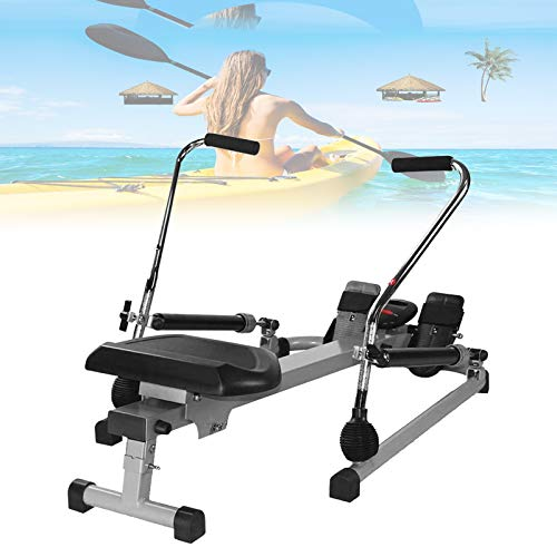 Eortzzpc Maquina De Remos para Casa, Remo Gimnasio Rowing Machine Remo Estatico Aparatos De Gimnasia, Ajutable 12 Resistencia, Excelente Manera De Mejorar Su Salud En General