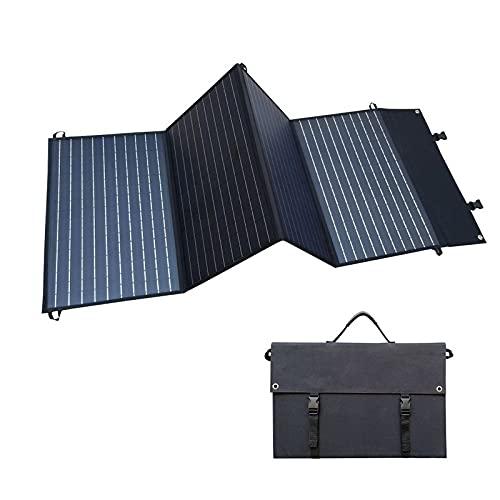 NMVB Panel Solar USB Plegable de 28W con 3 Puertos USB, Cargador de energía Solar a Prueba de Agua a Prueba de Agua monocristalino Compatible con iPhone, iPad, Samsung Galaxy, Tablets