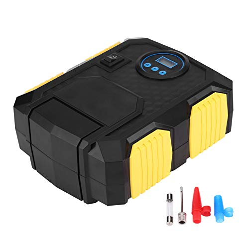 Yctze Compresor de Aire de Bomba de inflado de neumáticos de Coche portátil Digital DC 12v 150psi para Coches Bolas Bicicletas Motocicletas Camiones