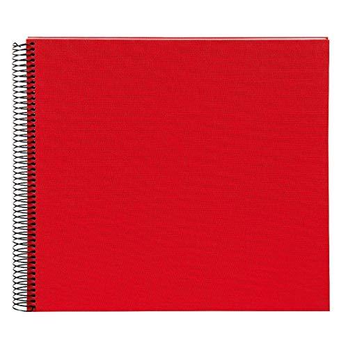 goldbuch Spiralalbum, Bella Vista, 35 x 30 cm, 40 weiße Seiten, Leinen, Rot, 25373