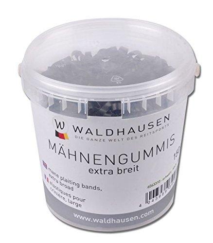 WALDHAUSEN Mähnengummis extra breit, schwarz, 150 g, schwarz, 150 ml