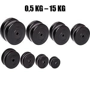 Par de discos de pesas C.P. Sports de entre 0,5 kg y 15 kg, con orificio de 30 mmPar de discos de pesas C.P. Sports d… 4,6 de un máximo de 5 estrellas2