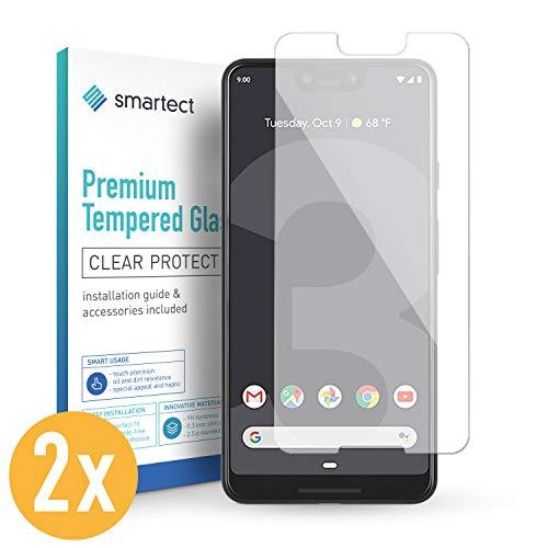 smartect Panzerglas kompatibel mit Google Pixel 3 XL [2 Stück] - Bildschirmschutz mit 9H Festigkeit - Blasenfreie Schutzfolie - Anti Fingerprint Panzerglasfolie